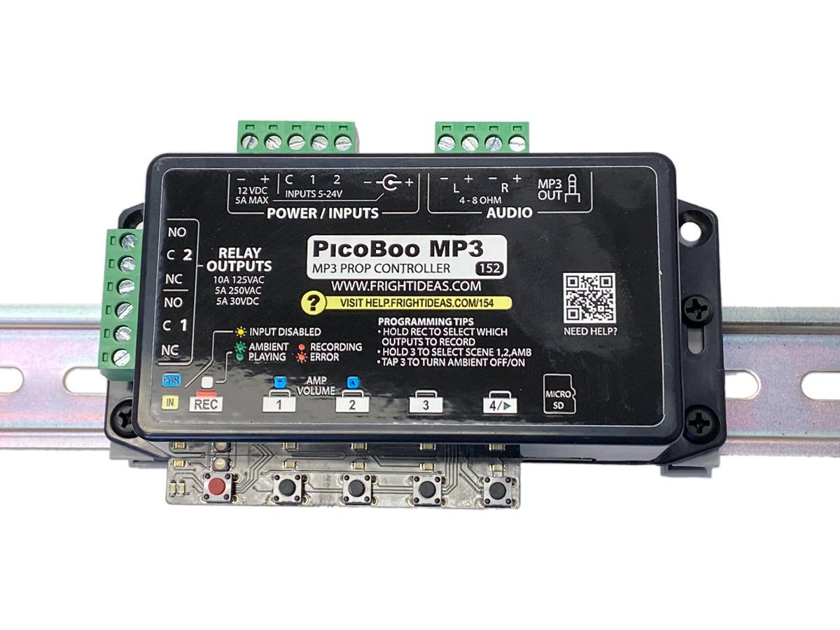 PicoBoo MP3 on DIN Rail